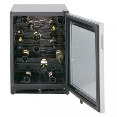 Wine Cooler stocked with 48 bottles of vino from around the world!